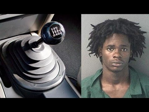 Carjacker can't drive a stick shift, arrested by police; Carjacking caught on tape - Compilation