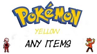 Pokemon Yellow - How To Get Every Item | GameShark Codes