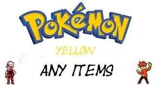 Pokemon Yellow - How To Get Every Item | GameShark Codes
