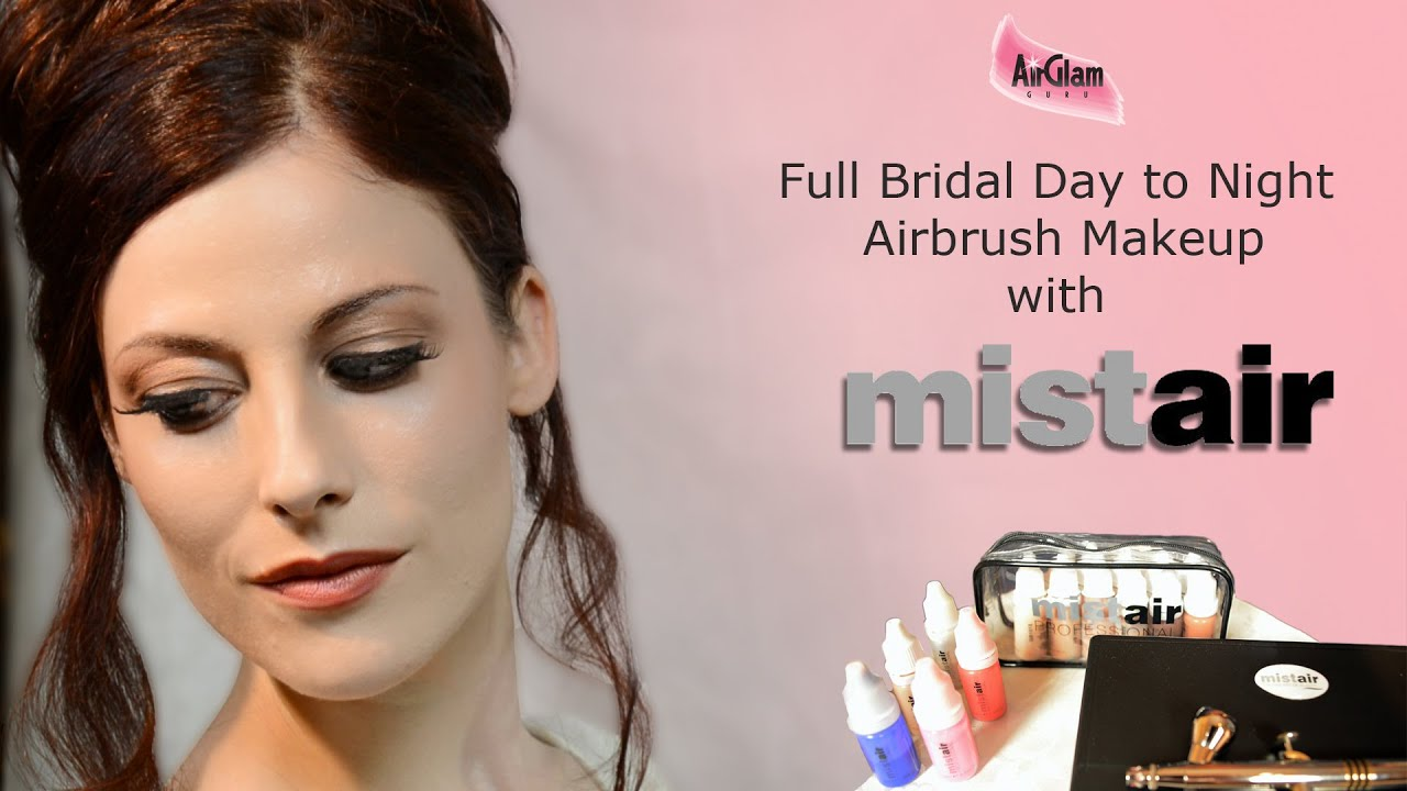 BRIDAL day to night full AIRBRUSH MAKEUP tutorial with ...