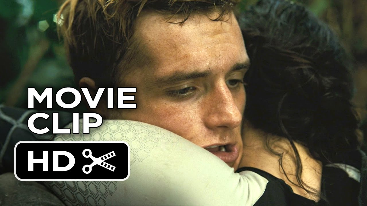 the hunger games catching fire movie clip 8 peeta hits
