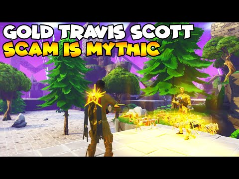 New Gold Travis Scott Scam Is Mythic! 💯😱 (Scammer Gets Scammed) Fortnite Save The World