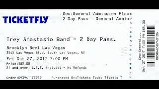 Trey Anastasio Band: 2017-10-27 ~ Brooklyn Bowl, Las Vegas, NV