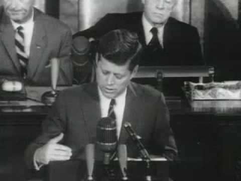 "John F. Kennedy ""Landing a man on the Moon"" Address to Congress - May 25, 1961"