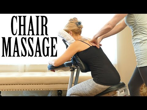 Relaxing Back Pain Relief with Meera | Low Back & Neck, Austin Chair Massage, How to, Tutorial