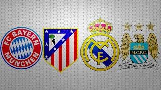 1/2 Лига Чемпионов Бавария 2:1 Атлетико Реал Мадрид 1:0 Манчестер Сити