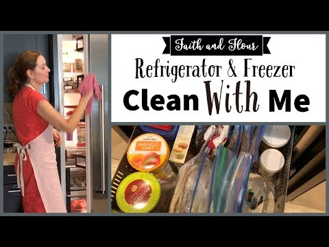 Refrigerator and Freezer Cleaning and Organizing Tips | Clean With Me | Cleaning Motivation