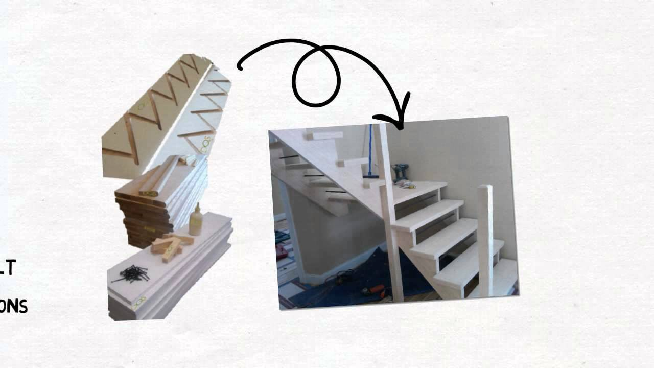 Basement Stairs Prefab Basement Stair Kits   YouTube