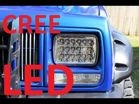 Jeep Cherokee Led Headlights Youtube