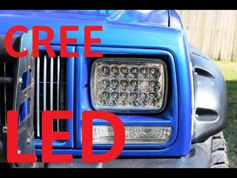 JEEP CHEROKEE LED HEADLIGHTS - YouTube