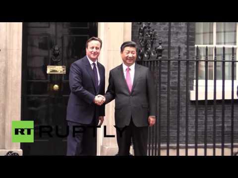 UK: Xi Jinping meets David Cameron at Downing Street