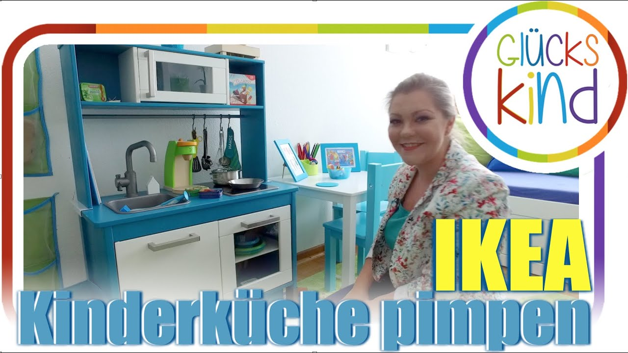 kinderk che pimpen unsere umgestaltete ikea duktiig spielk che das gl ckskind youtube. Black Bedroom Furniture Sets. Home Design Ideas