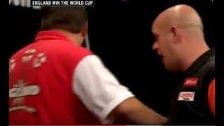 Adrian Lewis vs. Michael van Gerwen Incident - 2016 PDC World Cup