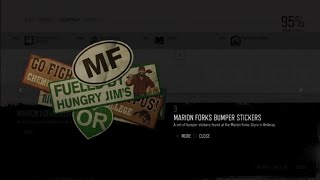 Marion Forks Bumper Stickers - Tourism Collectible #3 Location #DaysGone #Collectibles