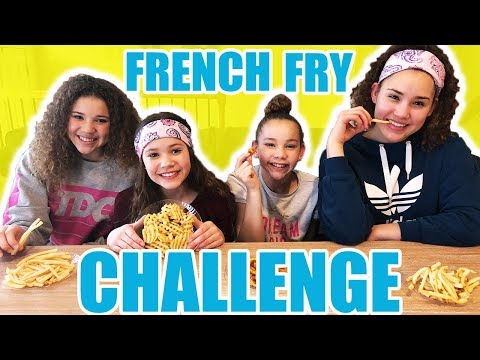 French Fry Challenge! (Haschak Sisters)