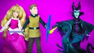 Princess Aurora Sleeping Beauty Mini Doll Set from Disney Store Maleficent Prince Phillip