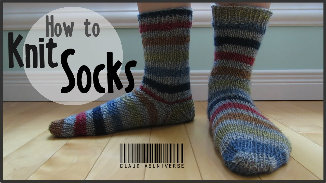 How to Knit Socks - YouTube