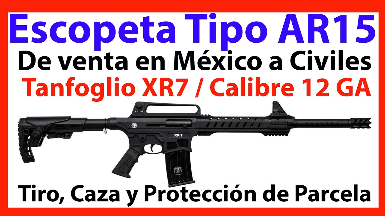SEDENA México - Escopeta Tanfoglio XR7 12 GA - Tipo AR15 - DE VENTA A CIVILES EN MÉXICO