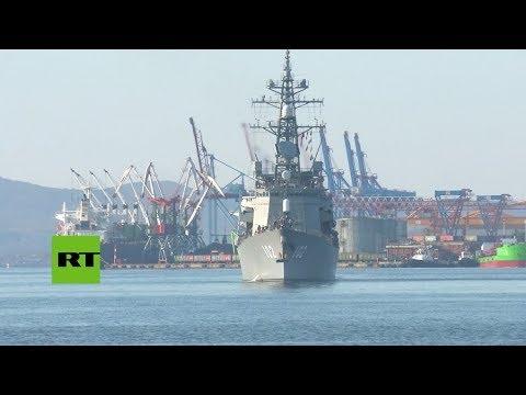 rusia:-barcos-militares-japoneses-llegan-al-puerto-de-vladivostok