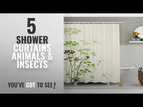 Top 10 Shower Curtains Animals & Insects [2018]: Ambesonne Country Decor Collection, Minimalist