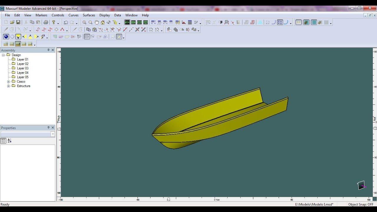 Modelando embarcación desde AutoCad a Rhinoceros y maxsurf - Rápido y Fácil