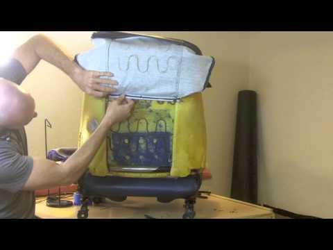 Easy DIY car seat upholstery sewing repair