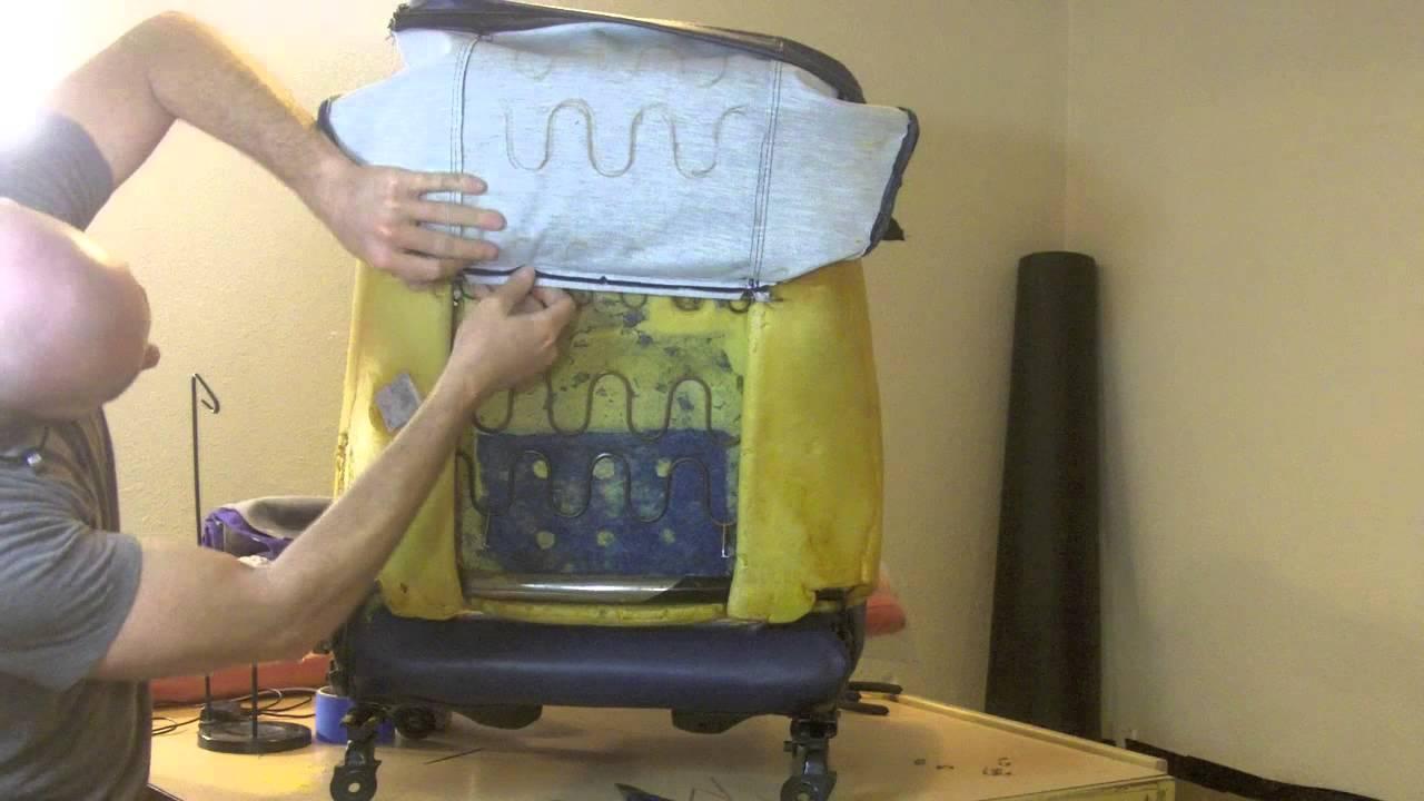 diy sofa repair restoring leather easy car seat upholstery sewing youtube