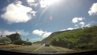 Driving from Waimanalo to Hawai