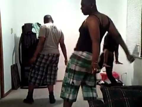 Drop it low - black guys dance version