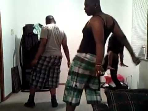 Drop it low - black guys dance version