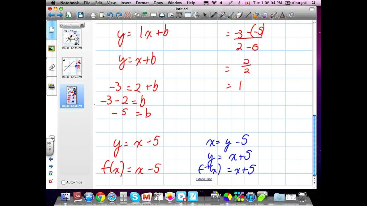 Function Notation Grade 12 Advanced Functions Chapter 1 Review 01:31:12