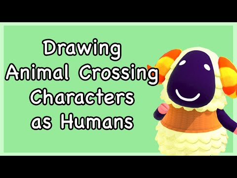 Drawing More Animal Crossing Characters As Humans Youtube