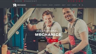 Mechanic WordPress Theme Home-Page Presentation - Car Repair Services Site Builder