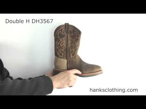 Double H Mens Square Steel Toe Roper Boot Style DH3567