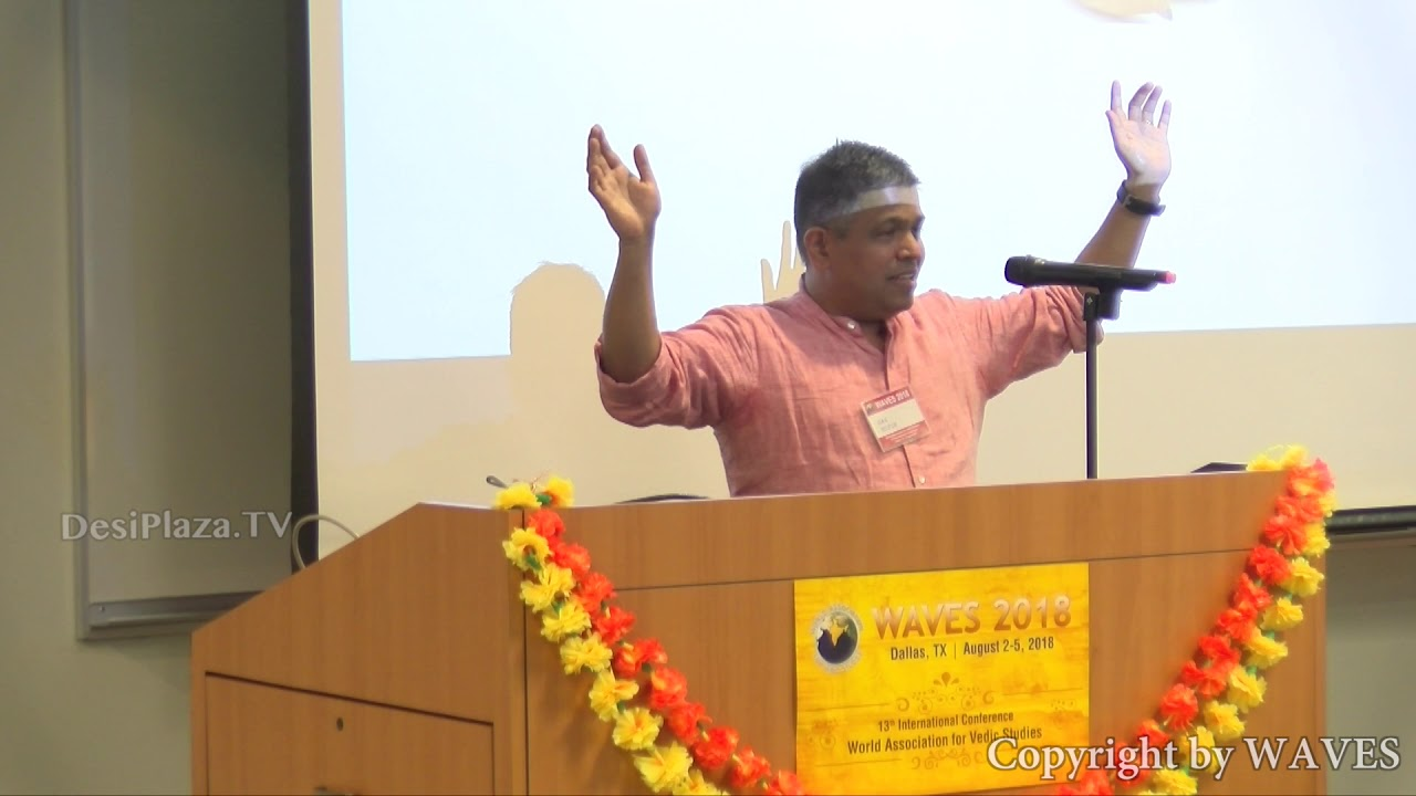 Shri Nilesh Oak at WAVES  Dallas, Texas - 2018.