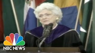 Barbara Bush In 1990: You'll Never Regret Time With Family | NBC News