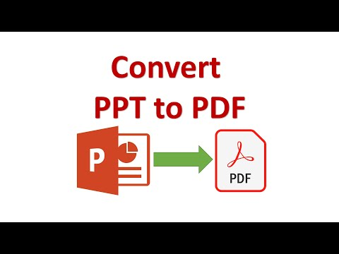 Convert Powerpoint Or PPT To PDF