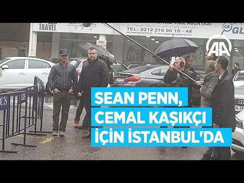 Ünlü aktör Sean Penn, Cemal Kaşıkçı belgeseli için İstanbul'da