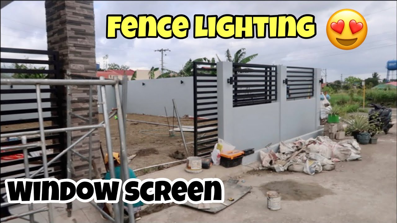 HOUSE BUILDING IN THE PHILIPPINES - EPISODE 202: FENCE LIGHTING I WINDOW SCREEN