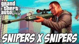 GTA 5 - Snipers x Snipers MUITO IRADO