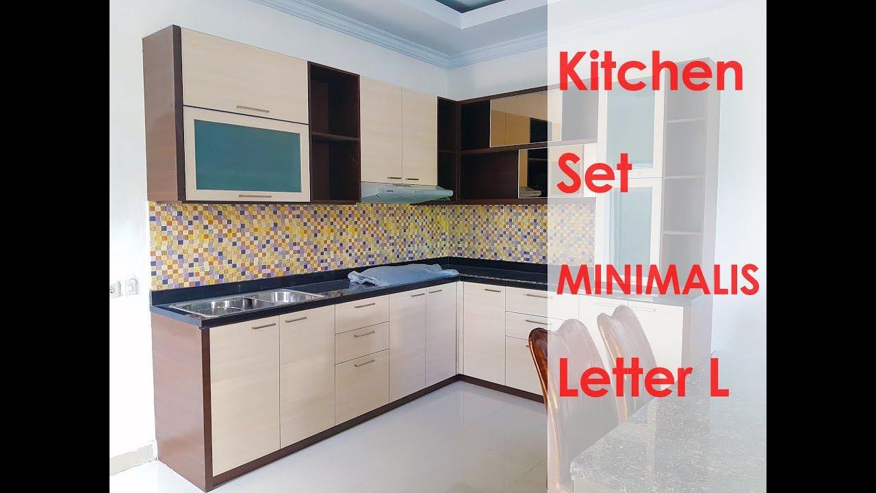 Kitchen Set Minimalis Dapur Kecil Letter L Dekoruang Youtube