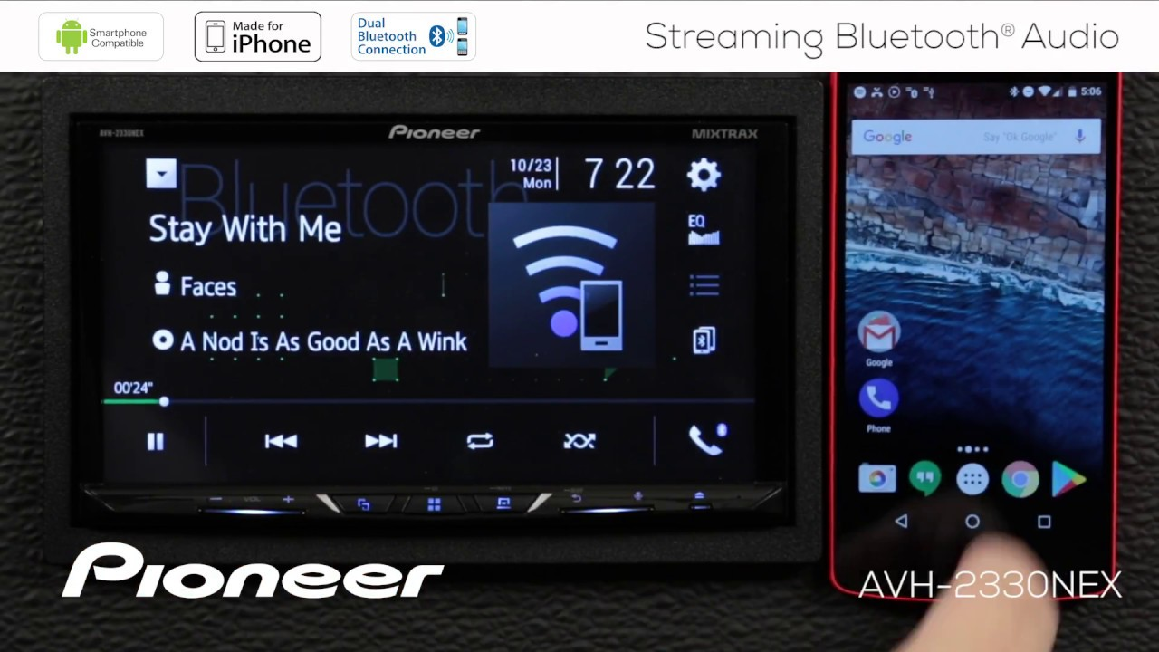 Appradio 2 bluetooth audio streaming