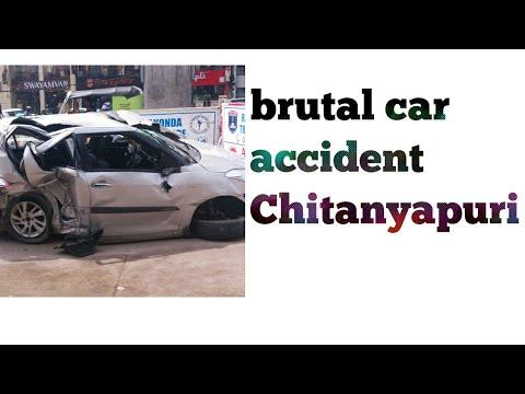 Chaitanyapuri brutal car accident || check description || 20/06/2017 ...