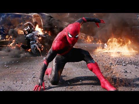 Человек-паук против дронов Мистерио. Финальная битва | Человек-паук: Вдали от дома (2019)