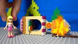 Мультфильм с конструктором Лего. Пожар в пиццерии. Видео для детей.(Мультик с игрушками Лего. Сегодня очень ветреная погода в LEGO сити. Стефани готовила пиццу, когда из-за сильн..., 2016-01-03T05:27:02.000Z)