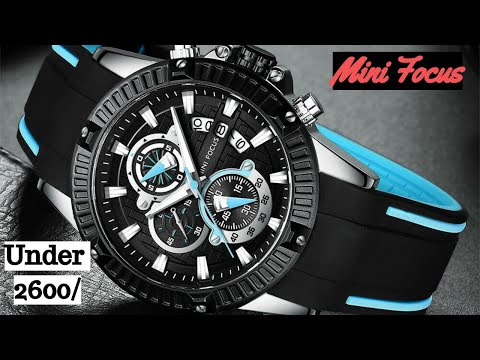 Mini Focus Chronograph Analog Quartz Waterproof Sport Men's Watch II Unboxing & Review 🔥🔥🔥