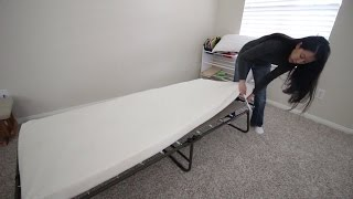 Night Therapy Weekender Elite Folding Guest Bed - unboxing and review(Amazon Link. http://amzn.to/1zKpSUe This has to be the best guest bed in the market. Perfect for camping or for house guest. Some features to this bed: * 4