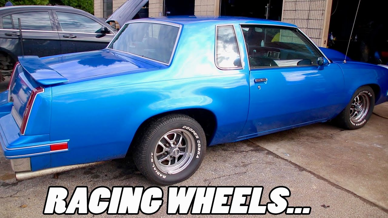 NEW RACING WHEELS JUST CAME IN FOR THE SUPERCHARGED CUTLASS.....