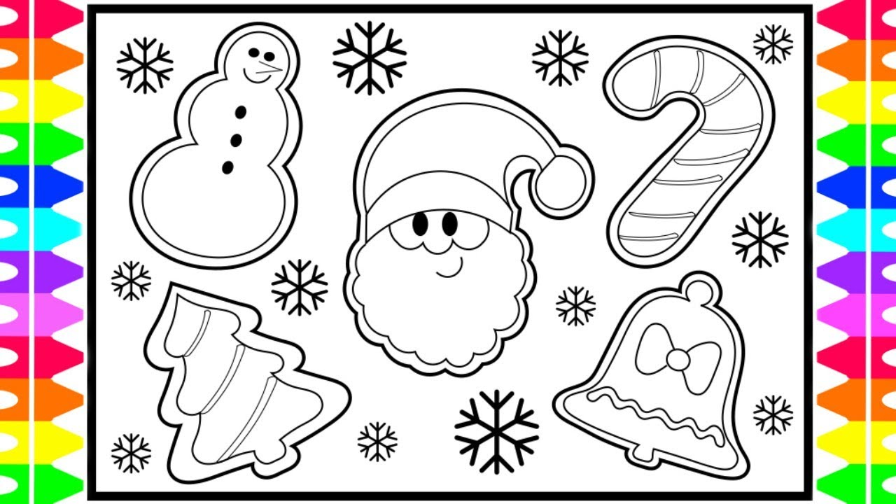 How To Draw Christmas Cookies Step By Step For Kids Santa S Face Snowman Fun Coloring Pages Kids