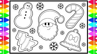 How to Draw CHRISTMAS COOKIES Step by Step for Kids! Santa